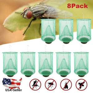 8-Pack-The-Ranch-Outdoor-Fly-Trap-Killer-Bug-Cage-Net-Perfect-For-Horses-USA