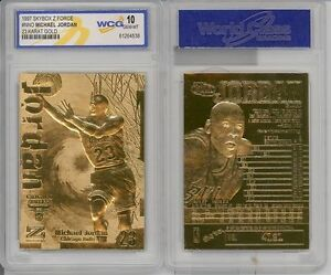 Lot-of-5-1997-MICHAEL-JORDAN-FLEER-Z-FORCE-23K-GOLD-CARD-GRADED-GEM-MINT-10
