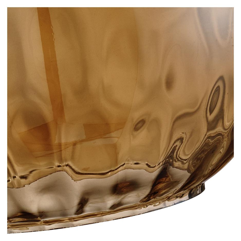 Pendule Lampe verre marron ambre ambre marron laiton lampe design lustre vintage DEL 736e74