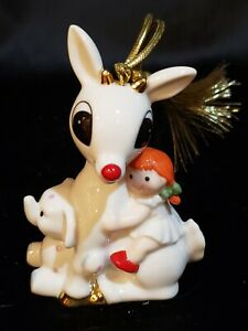Lenox-RUDOLPH-Christmas-Ornament-RED-NOSED-REINDEER-Rudolph-039-s-Misfit-Friends