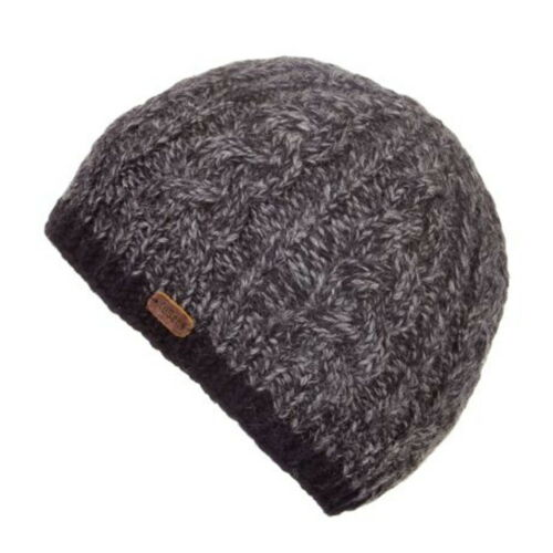 Kusan 100/% Wool Cable Twisted Yarm Beanie Hat PK1727 Oatmeal or Navy