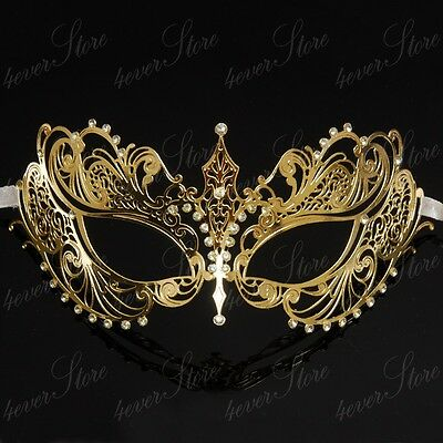 Luxury Butterfly Metal Venetian Masquerade Mask for Women M7147 Rose Gold