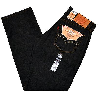 Levis 501 Jeans SHRINK TO FIT STF Original Indigo Blue Storm Black Gray Rigid