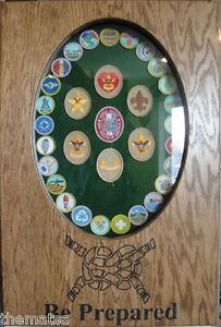 Image Is Loading Boy Scouts Merit Badge Display Case Shadow Box