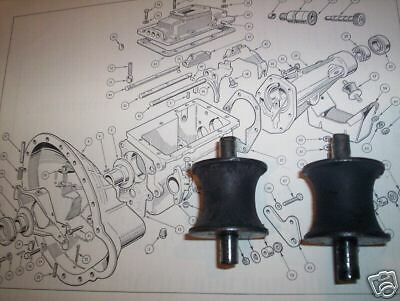 x2 x2 Mini Austin Morris 1100 1300 BMC Allegro GEARBOX MOUNTS