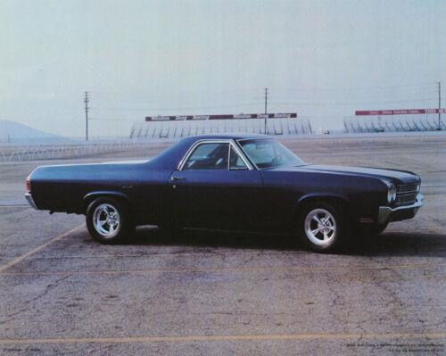 DARK BLUE FREE SHIP SMALL POSTER:CARS 1969 CHEVY EL CAMINO #29-630  LP52 S