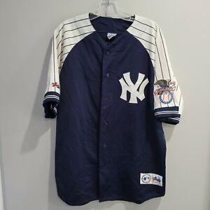 VTG Majestic MLB New York Yankees Bernie Williams 51 Pinstripe Jersey Mens L