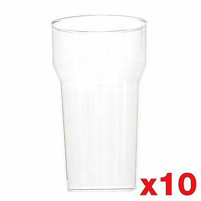 10 Ounce / 1/2 Pint Plastic Reusable Glasses Cups CE Marked Tumbler x 10