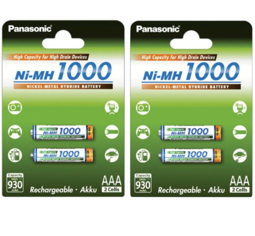 4x Panasonic Akkus AAA Micro 1000mAh für u.a Gigaset A585 A540 A630 A600 C610