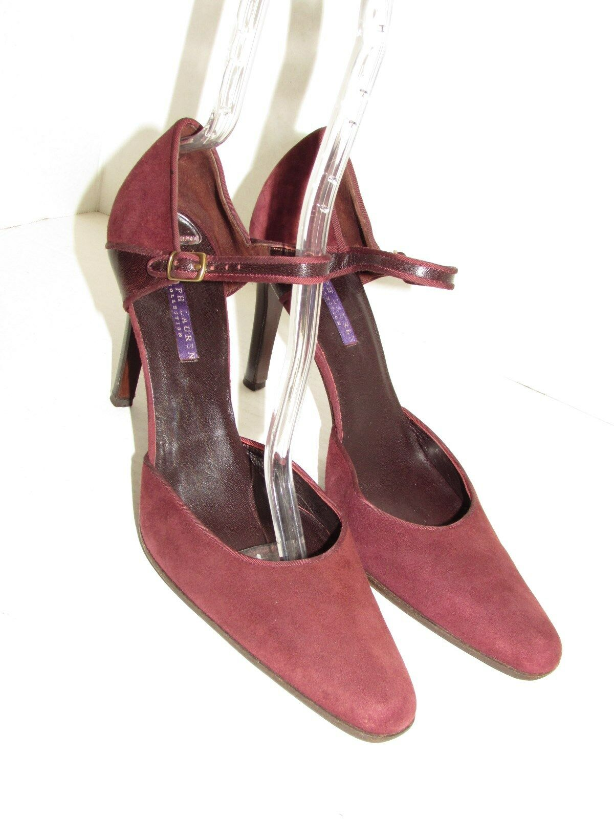 RALPH LAUREN Collection Purple Label Suede-Leder Heel Pumps Schuhes SZ 9.5 B