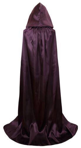 Vglook Unisex Hooded Halloween Christmas Cloak Costumes Party Cape Purple