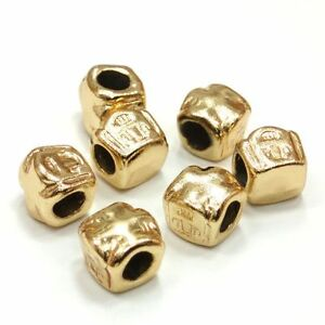5-Metallperlen-European-7-5x8-5x9-5mm-Gold-Farben-Spacer-Schmuckperlen-AA217