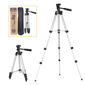 Universal-Aluminum-Travel-Tripod-w-Panhead-Phone-Holder-Mount-For-Camera-iPhone