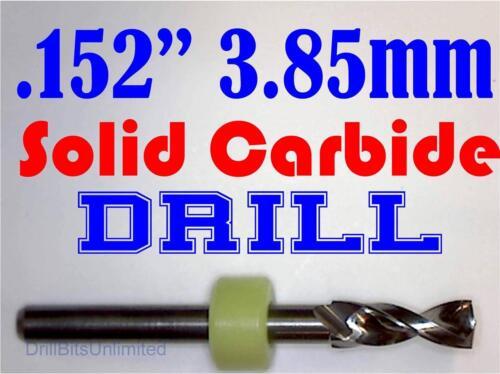 "CNC Hobby Model lu Solid Carbide Drill Bit 1//8/"" Shank .152/"" 3.85mm Sharp"