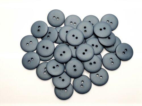 Farbe Taubenblau Matt Hohe Qualität 92 6 Knöpfe Knopf  Kunststoff 18mm
