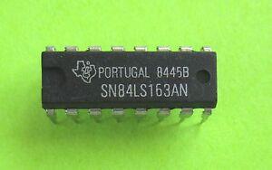 Sn84ls163 = industrial 74ls163 Sync 4-bit binary Counter Texas Instruments