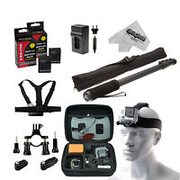 Gopro Hero 3 Professional Essential Accessory Bundle 9 Piece Kit Black/silver