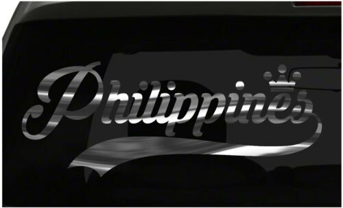 Philippines sticker Country Pride Sticker all chrome and regular colors choices