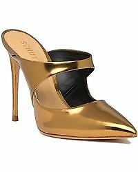 SCHUTZ Nicolly Mule Mule Mule New Bronze Pointed Toe Open Back High heel Stiletto Mule 1983b2