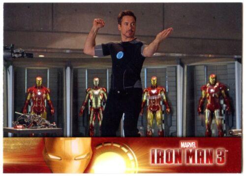Tony Stark #2 Iron Man 3 Upper Deck 2013 Marvel Trade Card C2071