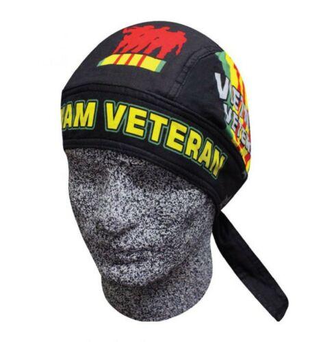 Vietnam Veteran Combat bandanna Biker Doo Du Rag Head wrap Skull cap Capsmith