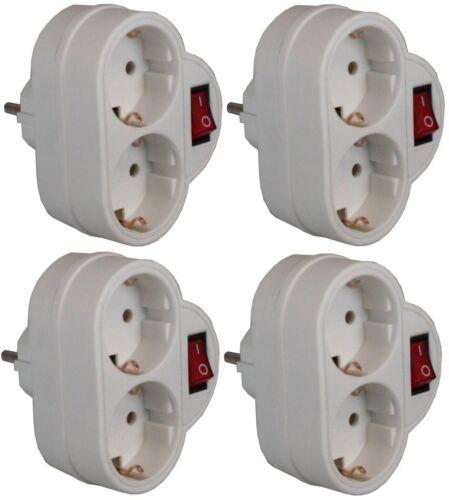 # Verteiler für LED Lichtschlauch,4x 2fach Steckdose mit SCHALTER Schuko y ZS