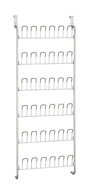 Wire Shoe Rack Organizer Wall Mount Hang Storage Closet Home Door Hanger 18Pairs