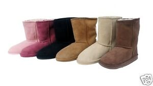 0a9a7adf7c8 Mid Calf Ugg Boots Australia Sheepskin Classic Mens Ladies Unisex ...