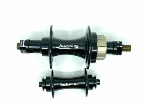 Hubsmith 28H 3 Speed Front and Rear Hub Set for Brompton Bicycle black chpt3
