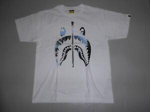 e3ab083889a8 Image is loading 16983-bape-tie-dye-shark-white-blue-tee-