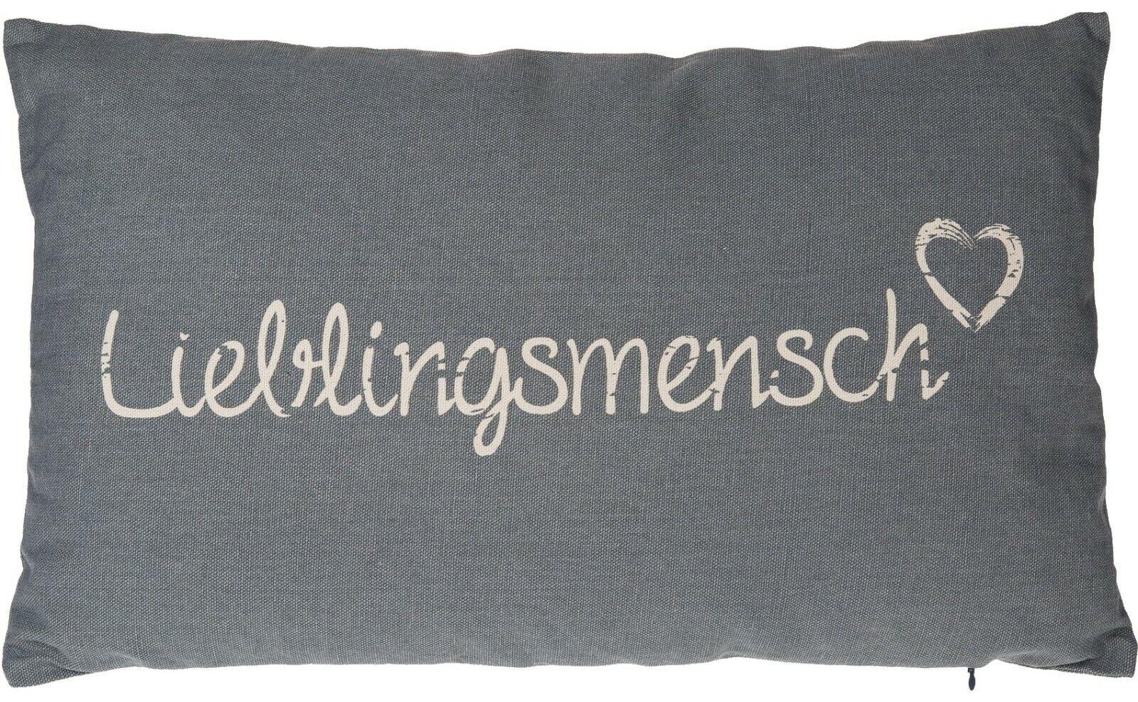 1 Kissen grau//rosa Lieblingsmensch MESSEWARE Neu Dekoration