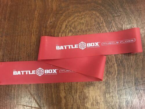 Bande Extra Large environ 2.13 m Battleboxuk Muscle soie bande rouge Voodoo Compression 7 ft