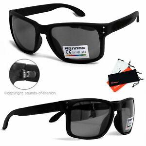 Rennec-Sonnenbrille-Schwarz-Matt-UV400-Rechteckig-Nerd-Look-Sportlich-14A-OR