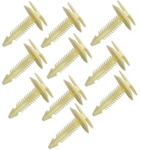 10x Agrafes clips en plastique pour moulure panneau de porte GM