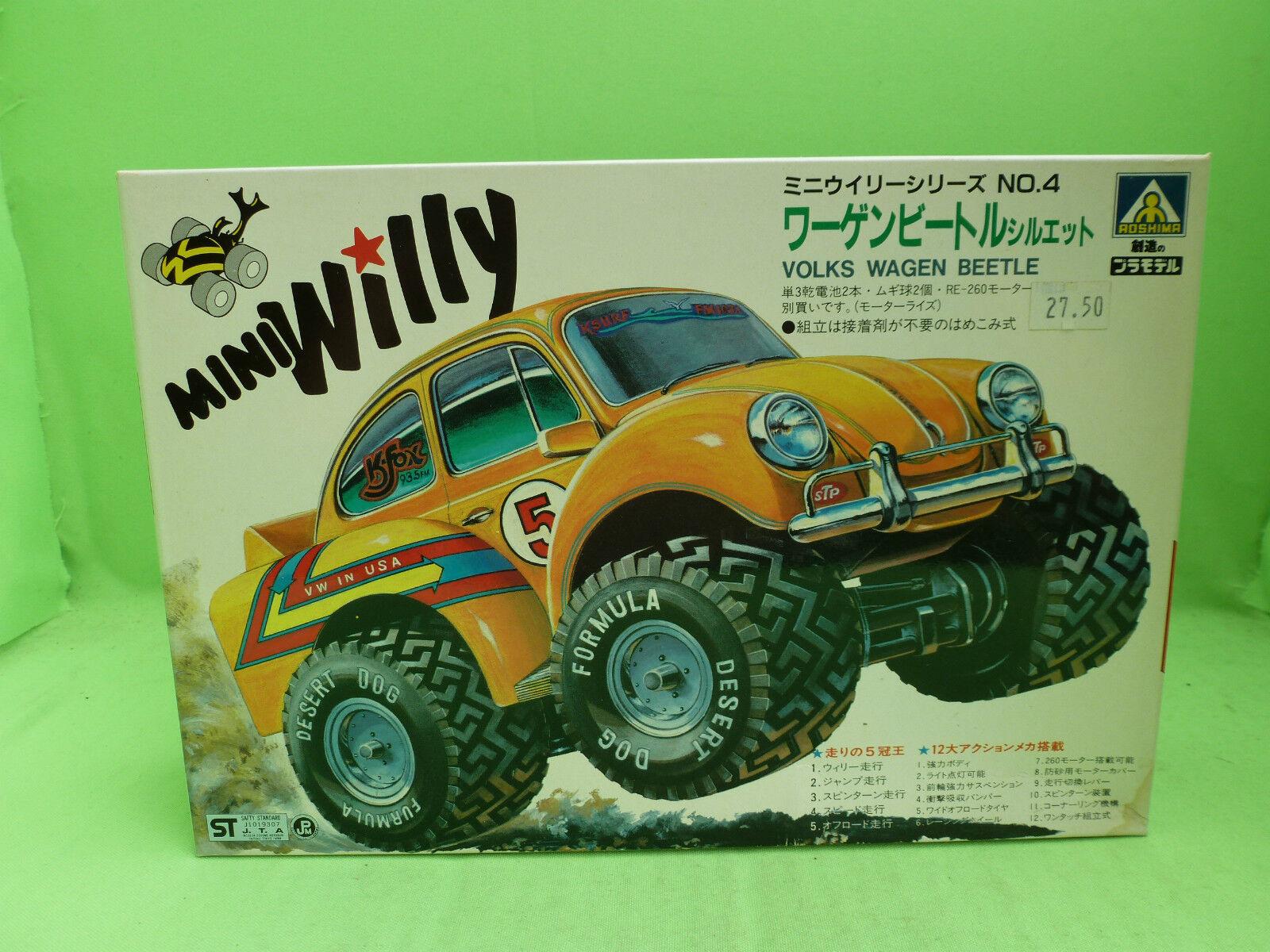 AOSHIMA NO.4 KIT G8-30-500 VW BEETLE KAFER MINIWILLY  - UNBUILT INBOX COMPLETE -