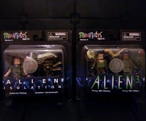MiniMates Alien figures Series 4 complete set of 4 TRU exclusive