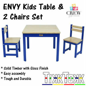 Astounding Details About New Kids Table And 2 Chairs Set Blue Square Childrens Meals Childs Draw Paint Interior Design Ideas Inesswwsoteloinfo