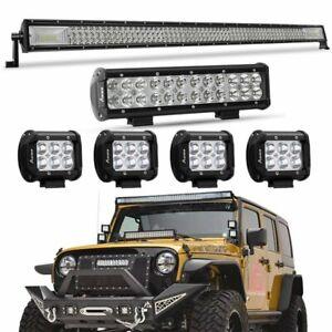 3 Row Jeep >> 52 3000w Cree 3 Row Led Light Bar 12 4 For Jeep