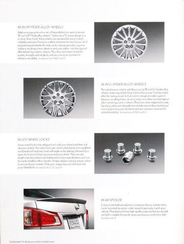 2013 Lexus IS IS300 IS250 14-page Accessories Original Car Brochure Catalog
