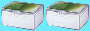 2-ULTRA-PRO-100-COUNT-CLEAR-HINGED-CARD-STORAGE-BOXES-Case-Holder-Sports-Trading