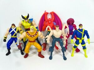 Vintage-90s-Toy-Biz-X-Men-Action-Figures-Lot-Wolverine-Cyclops-Cable-Marvel