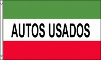 Autos Usados Flag 3x5 Ft Red White Green Business Sign Spanish Used Car Dealer