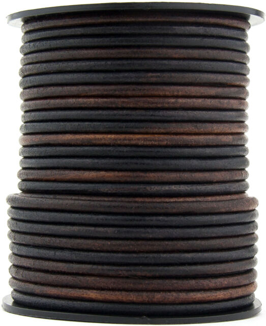 Xsotica® Gypsy Sippa Round Leather Cord 3mm 3 meters 3.28 yards