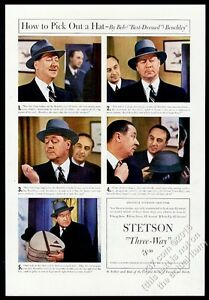 9840a391f6b27 1941 Robert Benchley 5 color photo Stetson hat hats vintage print ad ...