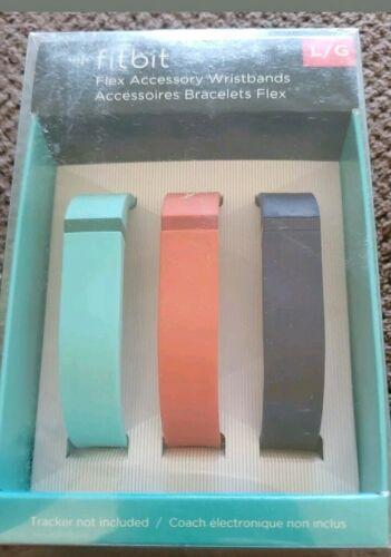 Fitbit Flex Accessory Wristbands 3 Pack Large  L//G Teal Orange /& Navy Blue