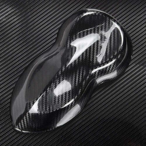 5D Premium HIGH GLOSS Black Carbon Fiber Vinyl Wrap Bubble Free Air Release New