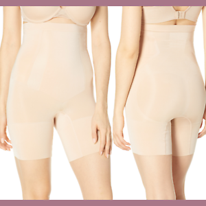 SPANX OnCore High-Waisted Mid-Thigh Short Shaper Beige S//P M Soft $85 SS1915 NEW