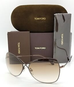 New-Tom-Ford-Colette-sunglasses-TF0250-48F-63mm-Brown-Gradient-AUTHENTIC-Aviator