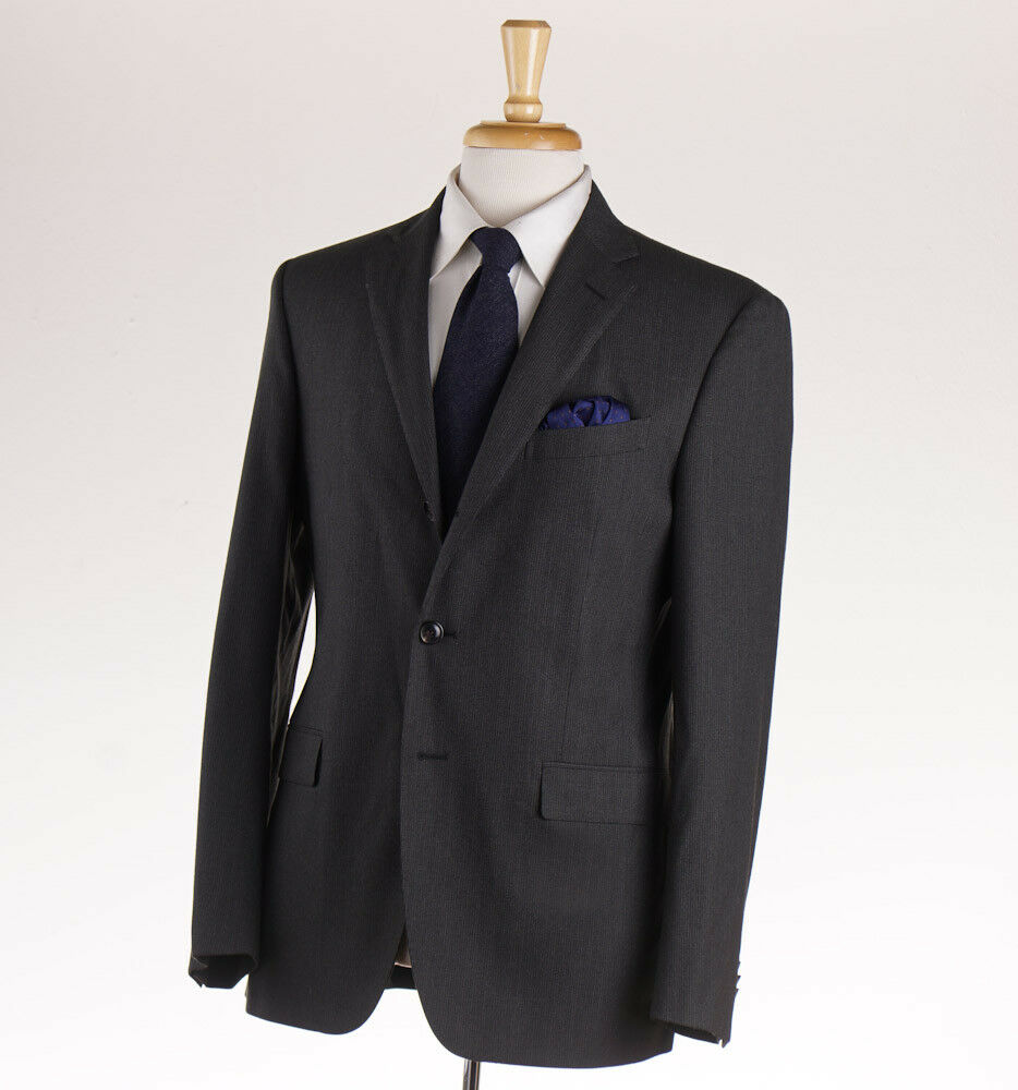 NWT 1695 BOGLIOLI 'Covent' Grün-grau Fine Stripe Wool Suit Slim 40 R (Eu 50)