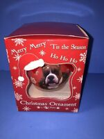 Boxer Cropped Dog Shatterproof Christmas Ball Ornament 3 By E & S Pets